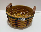 Longaberger Basket Proudly American Patriotic Red Blue Stars Round 10 in. 2003