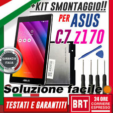 "LCD+TOUCH SCREEN ASUS ZENPAD C7 7.0"" Z170 Z170CG P01Y VETRO DISPLAY SCHERMO+KIT!"