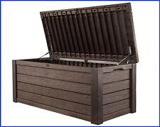 XXL 570L Heavy Duty Garden Storage Cushion Chest Box Outdoor Waterproof