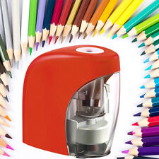 Electric Pencil Sharpener Automatic Switch For Classroom Home Office Red