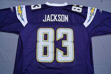 Reebok NFL Equipment Los Angeles LA Chargers V Jackson #83 Jersey. Men's Size L