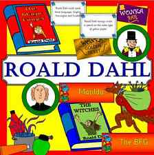 ROALD DAHL teaching resources on CD- Literacy, display, reading, author, day