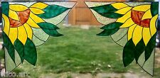 WICOART WINDOW COLOR STICKER CLING FAUX STAINED GLASS CORNER LOT 2 TOURNESOLS