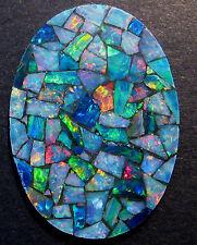 40x28mm Pretty Large Australian Opal Mosaic Doublet