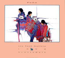 Amado PENA 1990 Joy Tash Gallery Scottsdale Native American Poster