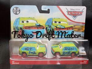 Disney Pixar Cars HIT & RUN CRAZY 8 DOUBLE 2 PACK 2021 1:55 DIECAST TOKYO DRIFT