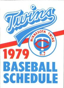 1979 MINNESOTA TWINS MAJOR LEAGUE BASEBALL SEASON POCKET SCHEDULE - GRAIN BELT