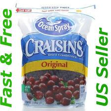 64 OZ Ocean Spray Craisins Dried Cranberries Resealable Bag Up Original New 4Lb