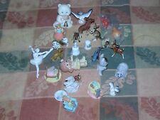 Big 25x mix lot mini Porcelain Ceramic Resin figurines animal thimble kids CUTE