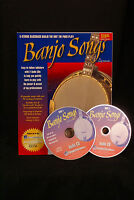 Watch and Learn GEOFF HOHWALD Banjo Songs Book + 2 CD's lead instruction package