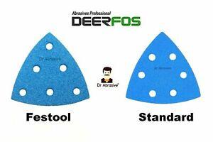 Delta 93mm Sanding Sheets Sandpaper 90 Pads / Festool Type / Bosch Type / Vecro