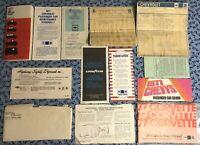1977 CORVETTE OWNERS MANUAL + MSRP WINDOW STICKER OEM SET EXTRAS! L48 350 V8 A+