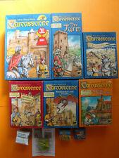 Carcassonne + 5 Erweiterungen + 4 Mini Erweiterungen
