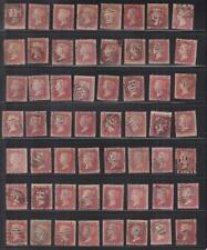 Great Britain: 1 Penny Red Brown, Sc #20, Used, Plating Lot/70 (S16975)