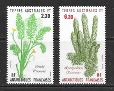 1986 French Ant Territories full set 2 stamps depicting plants in unmounted mint