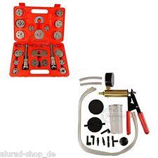 Bremskolbenrücksteller 21 Tlg. + Vakuumpumpe Bremsenentlüfter Set