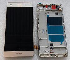 LCD Display Einheit Anzeige Touch Screen Glas Gold mit Rahmen Huawei P8 Lite
