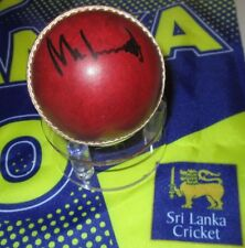 Muttiah Muralitharan (Sri Lanka)  signed Red Cricket Ball #2 + COA & photo proof