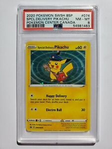 Pokemon Special Delivery Pikachu PSA 8