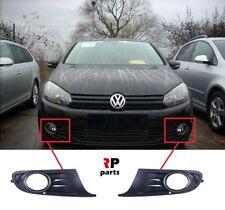 FOR VW GOLF 6 VI MK6 2009-2013 FRONT BUMPER FOG LIGHT GRILLE PAIR CHROME FRAME