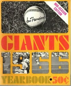 1966 San Francisco Giants Baseball Yearbook magazine Willie Mays, Willie McCovey