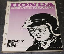 NOS OEM Honda Service Shop Manual NEW 85-87 CH80 ELITE CH 80