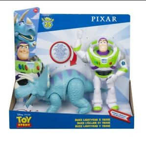 Pixars Toy Story 25th Anniversary Buzz Lightyear & Trixie Dinosaur Action Figure