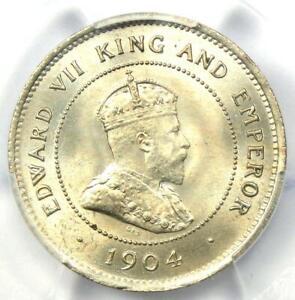 1904 Jamaica Edward Farthing 1/4D Coin - Certified PCGS MS65 (Gem BU UNC) - Rare