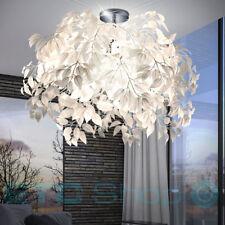 Luxus Decken Leuchte Wohnraum Lampe Blätter Blüten Flur Strahler weiß 3-flg E14