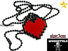 Game Undertale Sans Frisk Red Heart Necklace Pendant Cosplay Cool Jewelry