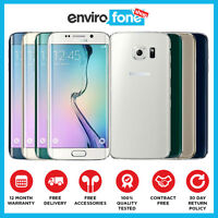 Samsung Galaxy S6 Edge 32GB 64GB 128GB Unlocked Sim Free Refurbished Smartphone