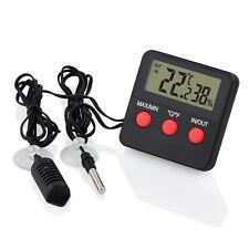 Digital Thermometer Hygrometer mit Fernfühler Min Max Innen Außen Auto Terrarium