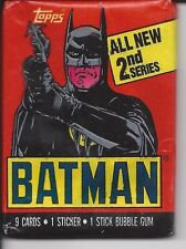 BATMAN 1989 SERIES 2 TRADING CARDS  10 PACKS  9 CARDS 1 STICKER & 1GUM PER SET