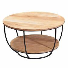 WOHNLING Couchtisch 60 cm Wohnzimmertisch Holz Massiv Sofatisch Tisch Wohnzimmer