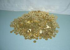 300 BEAUTIFUL GOLDEN SLOT MACHINE TOKENS -- STANDARD .984 SIZE -- NEWLY MINTED