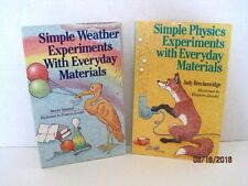 Simple Weather & Simple Physics Experiments With Everyday Materials, Lot of 2 Bo