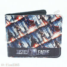 Justice League DC Superhero Wallet Short Bifold Card Holder Purse Cosplay Gifts