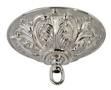 ANTIQUE NICKEL { CAST BRASS } CEILING LIGHT PENDANT CANOPY KIT ~ by PLD