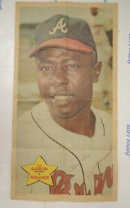 "1968 Topps Poster #14 of 24 Hank Aaron Atlanta Braves 10"" x 18"""