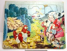 Vintage Pig In Colonial Wig Farm Animal Puzzle Built Rite