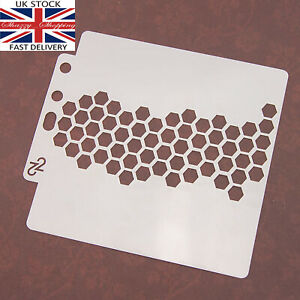Stencil Layering Card making Scrapbooking Honeycomb pattern UK Seller Fast post