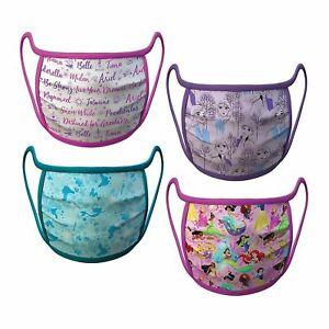 NEW Disney Store Princess Elsa Ariel Princess Face Masks 4 set Medium