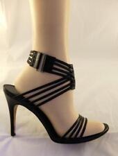 Gucci Black Stiletto Heels Multiple Ankle Strap Heels Hook Strap Heel