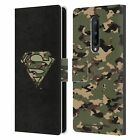 OFFICIAL SUPERMAN DC COMICS LOGOS LEATHER BOOK CASE FOR BLACKBERRY ONEPLUS
