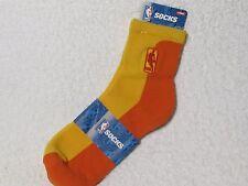NEW NBA BASKETBALL Logoman Player Crew Socks Mens Large Size ORANGE & GOLD