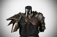 Medieval Leather Barbarian Pauldron Viking pauldron Larp Medieval Pauldrons