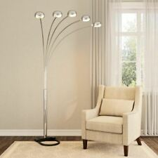 Floor Standing Arc Lamp Tall Arm Mood Lighting Dimmer Reading Light Dining Table