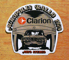 1979 Acropolis Rally Greece Clarion Auto Stereo Motorsport Sticker / Decal
