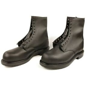 """Red Wing Mens Steel Toe 8"""" Motorcycle Work Boots Black Leather 4473 Size 8.5 New"""