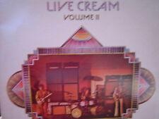 CREAM  LIVE CREAM VOL II LP RSO -1-3015 ERIC CLAPTON